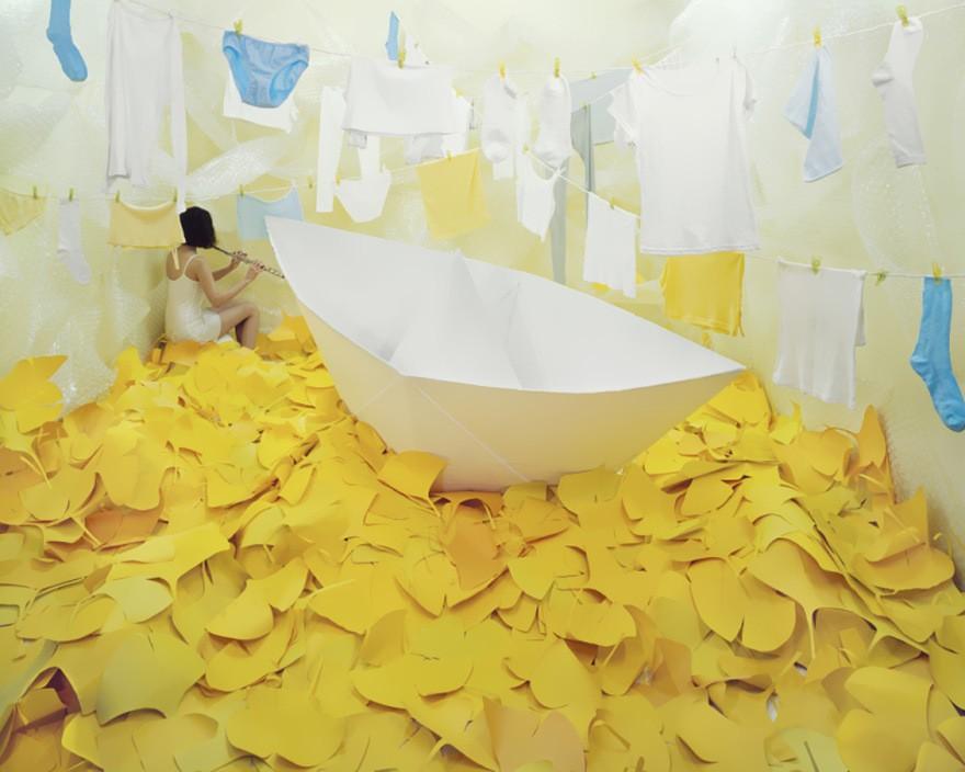Бумажный кораблик от Джи Янг Ли