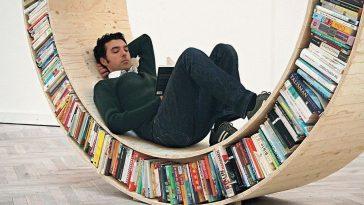 Книжная полка - место для отдыха