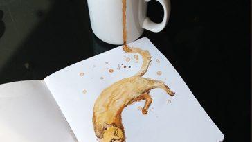Кошка из кофе