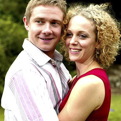 Martin Freeman with wife