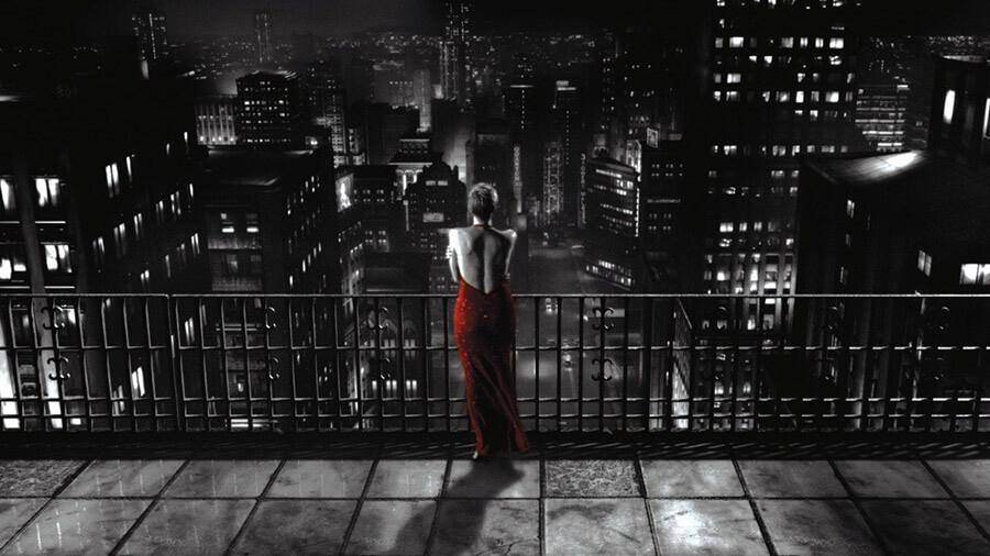 Черно-белый фильм «Город грехов»
